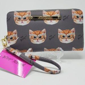 Betsy Johnson Rhinestone Kitten nwt Wallet
